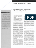 Yach, 'Globaliztion of Public Health I,' 1998