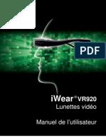 iWear VR920, Manuel de l'utilisateur (FR)