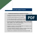 Instructivo Registro Proyectos AdminProys V0