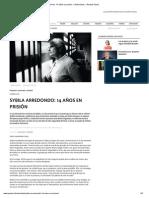 Sybila Arredondo_ 14 años en prisión » Entrevistas » Revista Paula