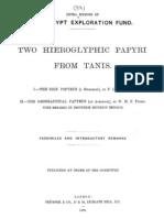 Two Hieroglyphic Papyri From Tanis - Heinrich Karl Brugsch