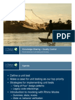 Knowledge Sharing – Quality Control