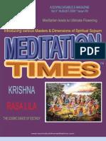 Meditations Times - August - Krishna
