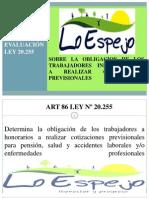 Presentación ley Nº 20.255