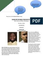 Harlem Works Flyer