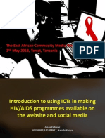 Introduction to using ICTs in making HIV/AIDS programmes available on the website and social media