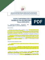 Guía TFM MAES_ 2012-2013 DEFINITIVO