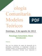 Psicología Comunitaria marcos teoricos