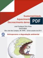 Aquecimento global, sustentabilidade e decrescimento demo-econômico