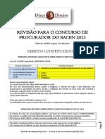 Revisão para o concurso de Procurador do BACEN