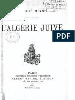Meynié Georges - L'Algérie juive