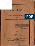LES-PSAUMES-Traduction Litterale en Francais-LeBoysDesGuays-et-Harlé-AvecLesSommairesDuSensInterne-d'après-Swedenborg-1877