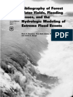Bibliography of Forest Water Yields, Flooding Issues, And the Hydrologic Modeling of Extreme Flood Events