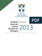 Condición Actual del Sistema Educativo de Nicaragua