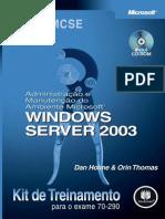 Administração e Manutenção do Ambiente Microsoft Windows Server 2003