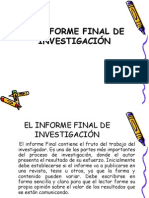 Clase 3.El Informe Final-Estructura