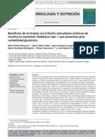 Beneficios de la terapia con infusión subcutánea continua de insulina
