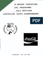Australian Youth Championships Programme 1979