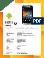 Especificaciones Tecnicas - TM400