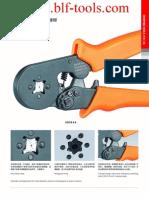 Cable Termination Ferrule Rachet Crimping Tools