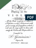 Geminiani the Art of Playing Violin