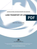 Australian Animal Welfare Standards and Guidelines for the Land Transport of Livestock
