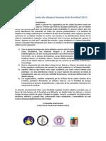 Propuesta de Alianzas Semana de La Facultad 2013