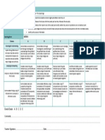 assessment criteria sheet