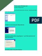 Cara Menginstal Printer Pada Windows Xp