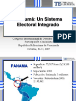 9.- Panama Un Sistema Electoral Integrado Sharon de Dumanoir