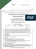 2012 Mathematical Methods (CAS) Exam 2