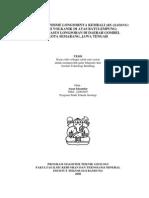 Studi Mekanisme Longsoran Gombel