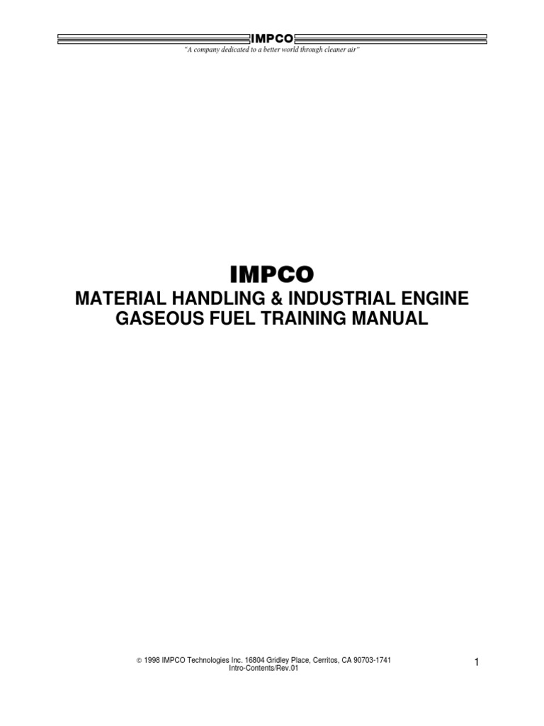 Impco training manual internal combustion engine fuel injection geenschuldenfo Choice Image