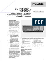 Fluke PM6680B Frequency Counter Data Sheet