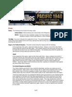 Axis Allies Pacific 1940 Errata FAQ