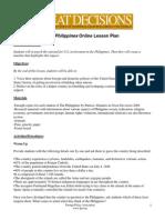 Philippines Lesson Plan