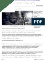 Mobile Il Faudrait Tripler Le Nombre d Antenne Relais Pour r