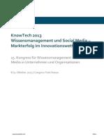 knowtech 2013 annotietes Programm