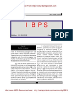 IBPS Specialist Officers Exam Paper Helo on 11-03-2012 Test 2 English Language Www.bankpoclerk.com