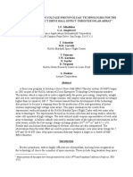 Assessment of High-Voltage Photovoltaic Technologies for the Design of a Direct Drive Hall Effect Thruster Solar Array