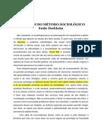 As Regras Do Metodo Sociologico Emile Durkheim