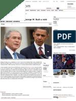 George W. Bush a voté pour Barack Obama
