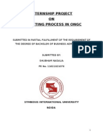 Budgeting Process in Ongc