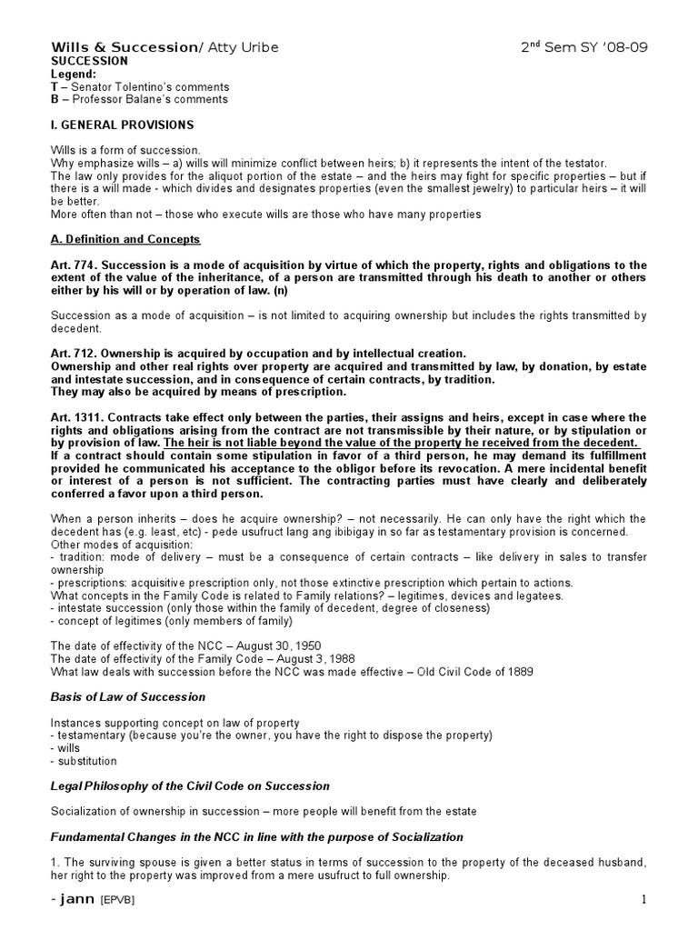 uribe notes will and testament inheritance1183 Artigo 128 Do Codigo Penal #17