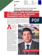 """ANTÓNIO PEREIRA JOAQUIM, DIRECTOR DE COMUNICAÇÃO DA NISSAN IBERIA PORTUGAL NA """"ANECRA REVISTA"""""""