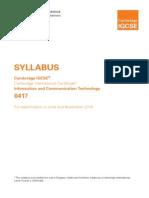 Ict 2014 Syllabus