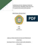 Pengaruh Kperofesionalan Guru Terhadap Perestasi Belajar Mata Pelajaran Bahasa Indonesia Siswa Kelas Vii Smpn 01 Atap Banyuates Sampang