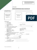 Contoh Formulir Pendaftaran SD