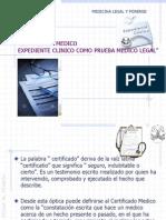 Certificado Medico Legal y Forence