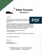 Palm Terrace Application